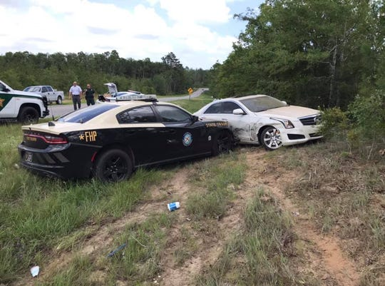 Florida Highway Patrol was able to end the high pursuit using the PIT maneuver.