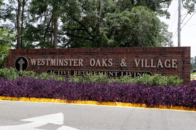 Westminster Oaks and Village entrance sign Tuesday, June 25, 2019.