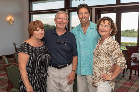 "Grace and Mark Carleton, left, Ron Ingles and Barb McCalister attend the sold-out ""Let the Good Times Roll"" event to benefit Big Brothers Big Sisters of Palm Beach and Martin Counties."