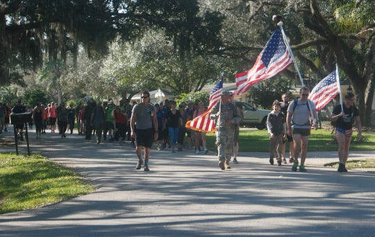 "Next Generation Veterans of Indian River County is hosting a Ruck for Our Veterans march on June 29 to raise money for the ""Words From War"" monument that will be built near Veterans Memorial Island Sanctuary in Vero Beach."