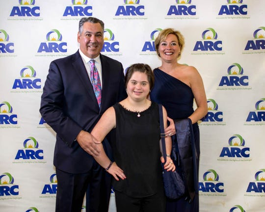 Edward and Jacquie Kemm with Barbara St. Ong at The ARC of Martin County's 20th annual Evening of Entertainment, Las Vegas style.