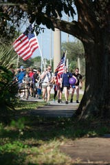 "Next Generation Veterans of Indian River County's first Ruck March in 2017. This year Next Generation Veterans of Indian River County is hosting a Ruck for Our Veterans march on June 29 to raise money for the ""Words From War"" monument that will be built near Veterans Memorial Island Sanctuary in Vero Beach."