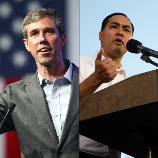 Texas candidates Beto O'Rourke and Julián Castro