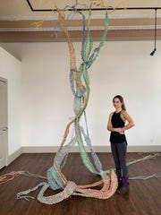 An exhibit featuring the work of artist Emma Akmakdjian and her Anthropocene Kelp Forest is on display through Aug. 26 at the Channel Islands Maritime Museum in Oxnard.