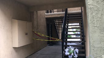 A man died Monday after reportedly walking through apartment grounds covered in blood, Oxnard police say.