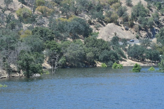 By June 24, Horse Creek Campground  at Lake Kaweah has disappeared entirely beneath 711 feet of water.