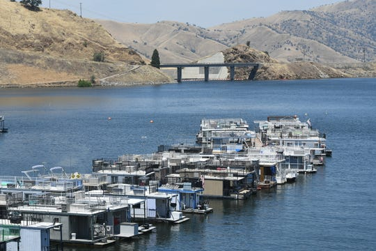 Lake Kaweah stands nearly full at 711 feet on June 24, 2019.