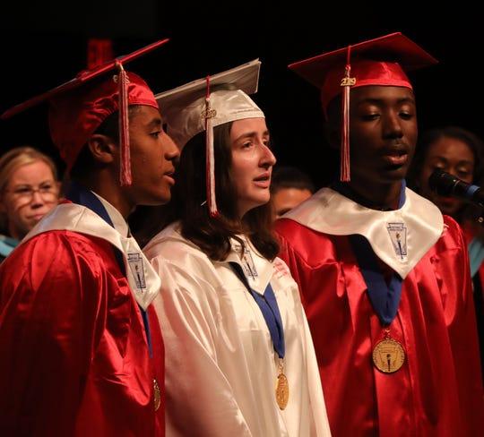 Alexander Hamilton graduation at Westchester Broadway Theatre in Elmsford June 24, 2019.