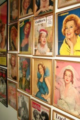 A wall in the home of  actress Arlene Dahl id dedicated to her many magazine covers.