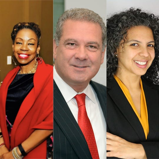 Three Yonkers mayoral candidates in Tuesday's Democratic primary.