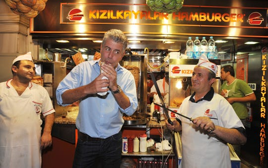 "Anthony Bourdain toured the world on his CNN TV show ""Parts Unknown."""