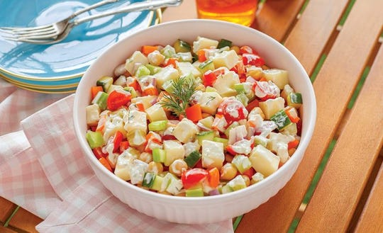 Creamy Veggie Chopped Salad