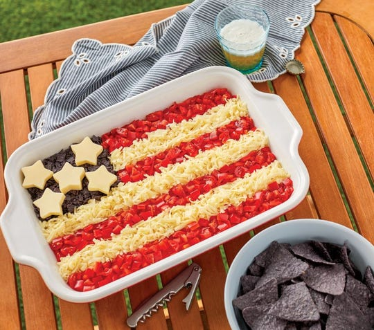 Patriotic Taco Salad