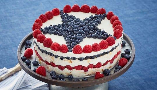 Frozen Patriotic Torte