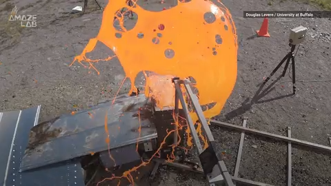 Volcano science: Watch researchers create DIY 'lava bombs' for science