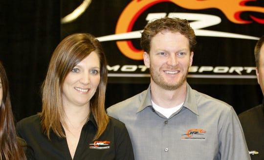 Kelley Earnhardt Miller, left, and Dale Earnhardt Jr. in 2009.