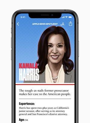 Kamala Harris's Apple News profile