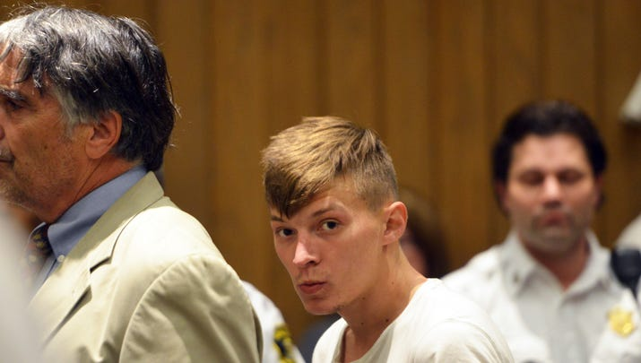 Volodymyr Zhukovskyy, 23, stands during his arraignment in Springfield District Court, Monday, June 24, 2019, in Springfield, Mass.
