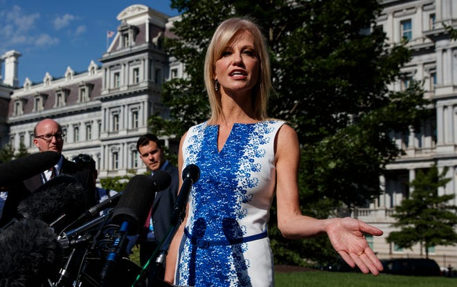 White House counselor Kellyanne Conway, shown in this June file photo, spoke at the Ohio Republican Party's state dinner in Columbus on Saturday.