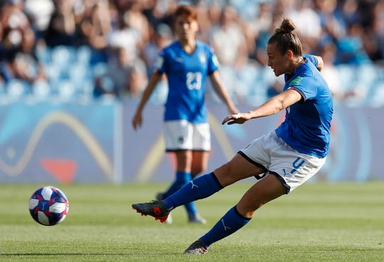 Aurora Galli came on as a substitute and scored Italy's second goal.