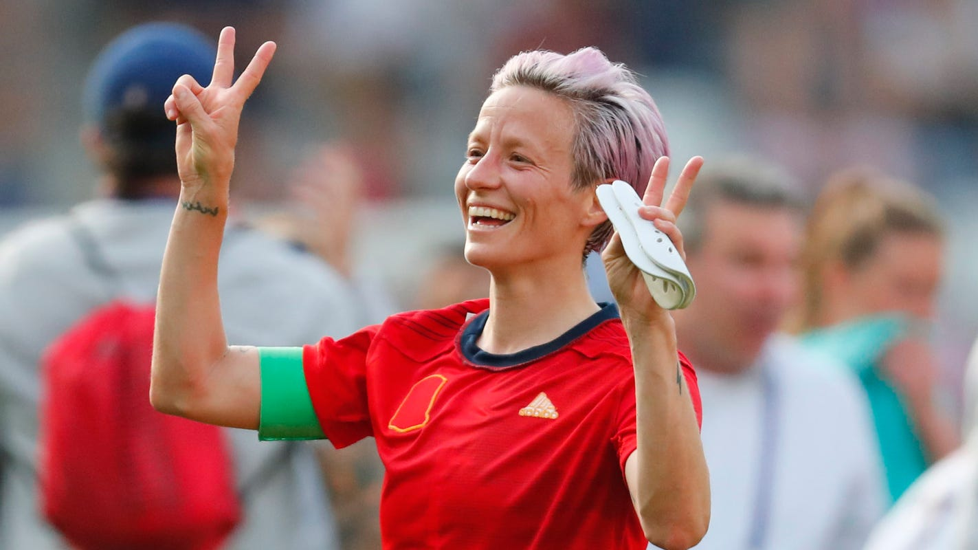 Trump says it's wrong US soccer star Megan Rapinoe protests during national anthem