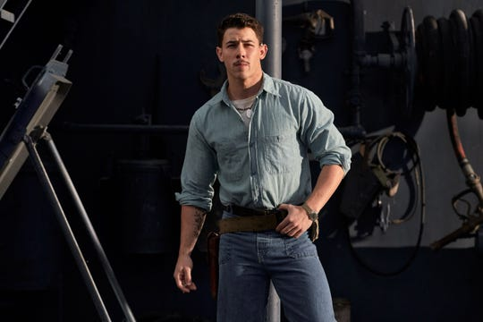 "Nick Jonas stars as radioman Bruno Gaido in ""Midway."" During World War II, radiomen also served as gunners on dive-bombing missions."