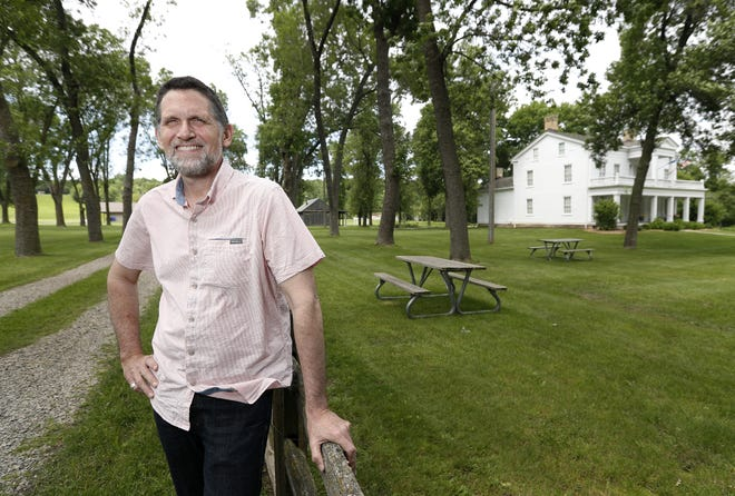 Peter Peregrine, a professor of anthropology at Lawrence University, stands for a portrait on the grounds of the Charles A. Grignon Mansion Tuesday, June 25, 2019 in Kaukauna, Wis.