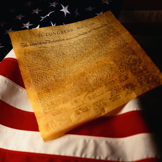The Declaration of Independence formally cut ties with Great Britain. It was adopted on July 4, 1776 by the Continental Congress.