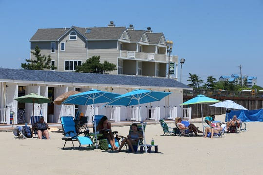 A view of some of the beach cabanas at Promenade Beach Club, a full-service, family-owned beach club that is celebrating its 20th anniversary this year, in Long Branch, NJ Wednesday June 26, 2019.
