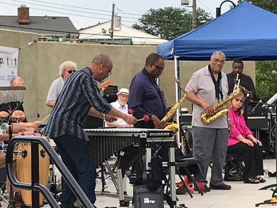 Dorian Parreott's All-Stars at the Music Mondays at  Springwood Park concert series in Asbury Park on June 24, 2019.