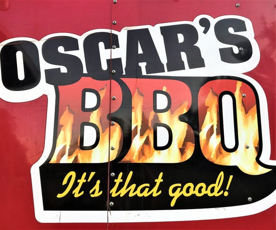 The logo on Oscar Week's barbecue trailer.