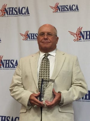 Murphy football coach David Gentry was inducted into the National High School Athletic Coaches Association's National Hall of Fame Class of 2019 on June 25.