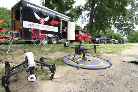 Drones from the Broad River Volunteer Fire Department assisted in search operations for Ryan McClure. Volunteers discovered the body of the Navy veteran June 26.