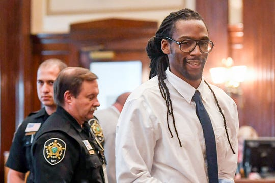 Nathaniel Dixon leaves the courtroom after being found guilty of first-degree murder, attempted first-degree murder and malicious maiming June 26, 2019.