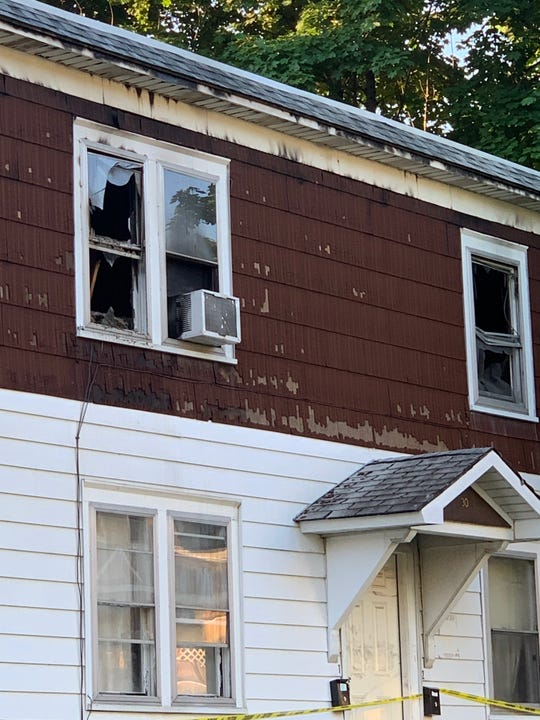 A fire broke out Tuesday night, June 25, 2019, on Cedar Street in Binghamton.