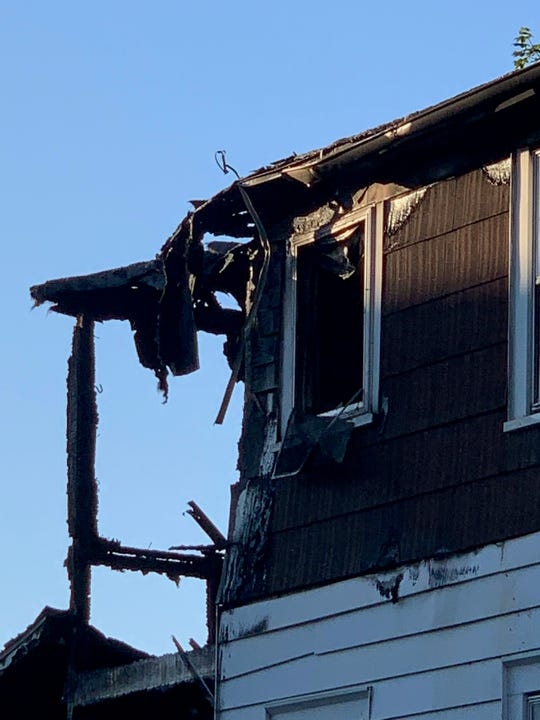 A fire broke out Tuesday night, June 25, 2019, on Cedar Street in Binghamton.