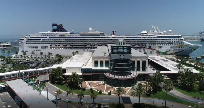 The Norwegian Dawn made a port-of-call stop on Monday at Port Canaveral's Cruise Terminal 8, which previously had been exclusively used by Disney Cruise Line.
