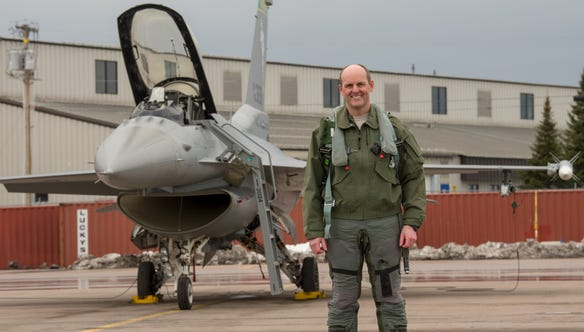 Colonel David Shevchik, Operations Group Commander of the Vermont Air National Guard's 158th Fighter Wing