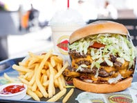 Fatburger offers fries and shakes along with the iconic XXXL Triple Fatburger.