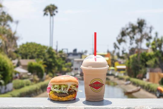 Hand-scooped ice cream goes into every shake at Fatburger.
