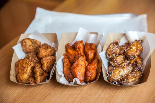Wings come boneless and with the bone with a wide variety of sauces at Fat Burger.