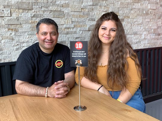 Praveen Vig and his daughter Ambika Vig of Mays Landing are looking forward to the opening of their franchise of Fatburger at Cherry Hill Mall.