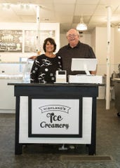 Pat and Jane Highland are the owners of the new Highland's Ice Creamery on Paint Street in downtown Chillicothe. The ice cream store will have its grand opening on Friday, June 28, 2019.