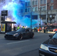 NASCAR driver Kurt Busch does a burnout in downtown Cincinnati as goldRush Rally stops by