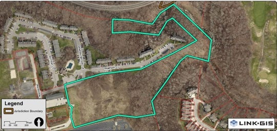 A staff report shows proposed boundaries for the 106-unit apartment complex in Fort Mitchell.