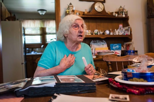 Ellie Baltimore talks about her experiences growing up in Germany during and after World War II, at her home in Clarksville in June 2019.