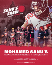Mohamed Sanu is hosting a charity kickball game