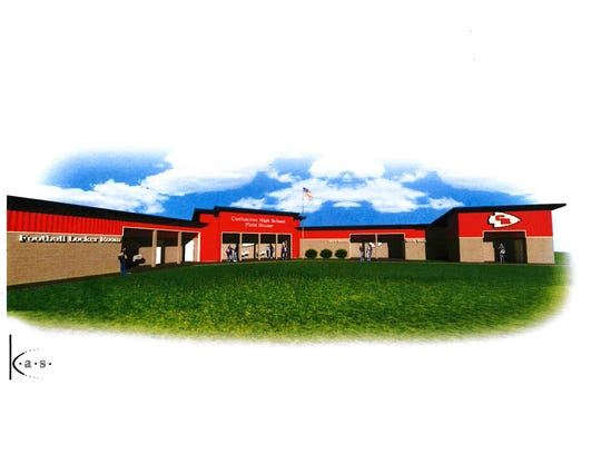 An artist's rendering of Coshocton's new field house, as the Board of Education recently approved the project.