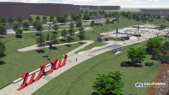 The final design of the Lauridsen Skatepark in downtown Des Moines calls for 88,000 square feet of skateable space.