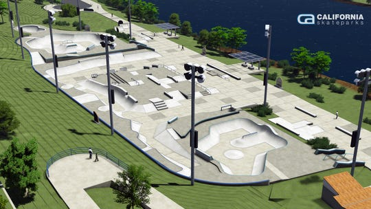 The final design of the Lauridsen Skatepark in downtown Des Moines puts it at 88,000-square-feet of skate-able space.